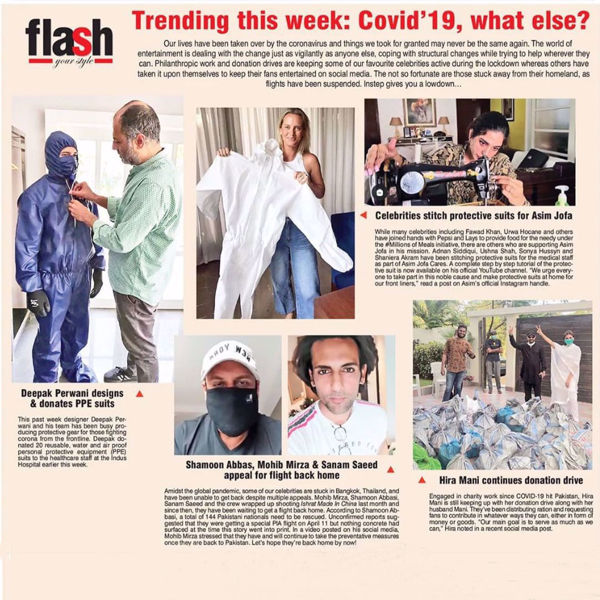 Picture of Deepak Perwani doing his part for the community by producing the PPE suits and donating it to Hospitals. Let's fight this together!  #StayHomeSaveLives #Covid_19 #DeepakPerwaniofficial #PPE #Karachi